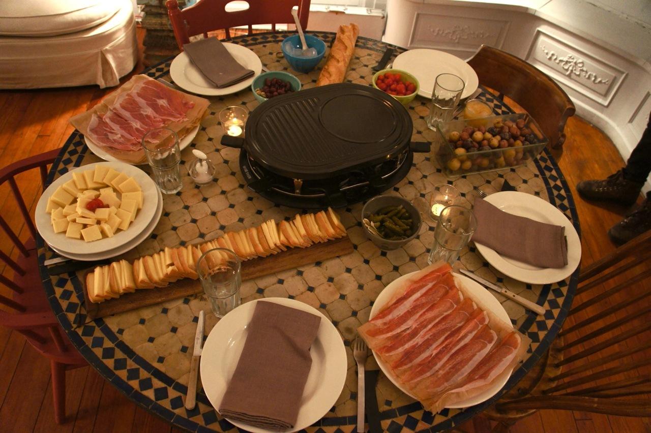 Gute Vorbereitung für ein leckeres Raclette