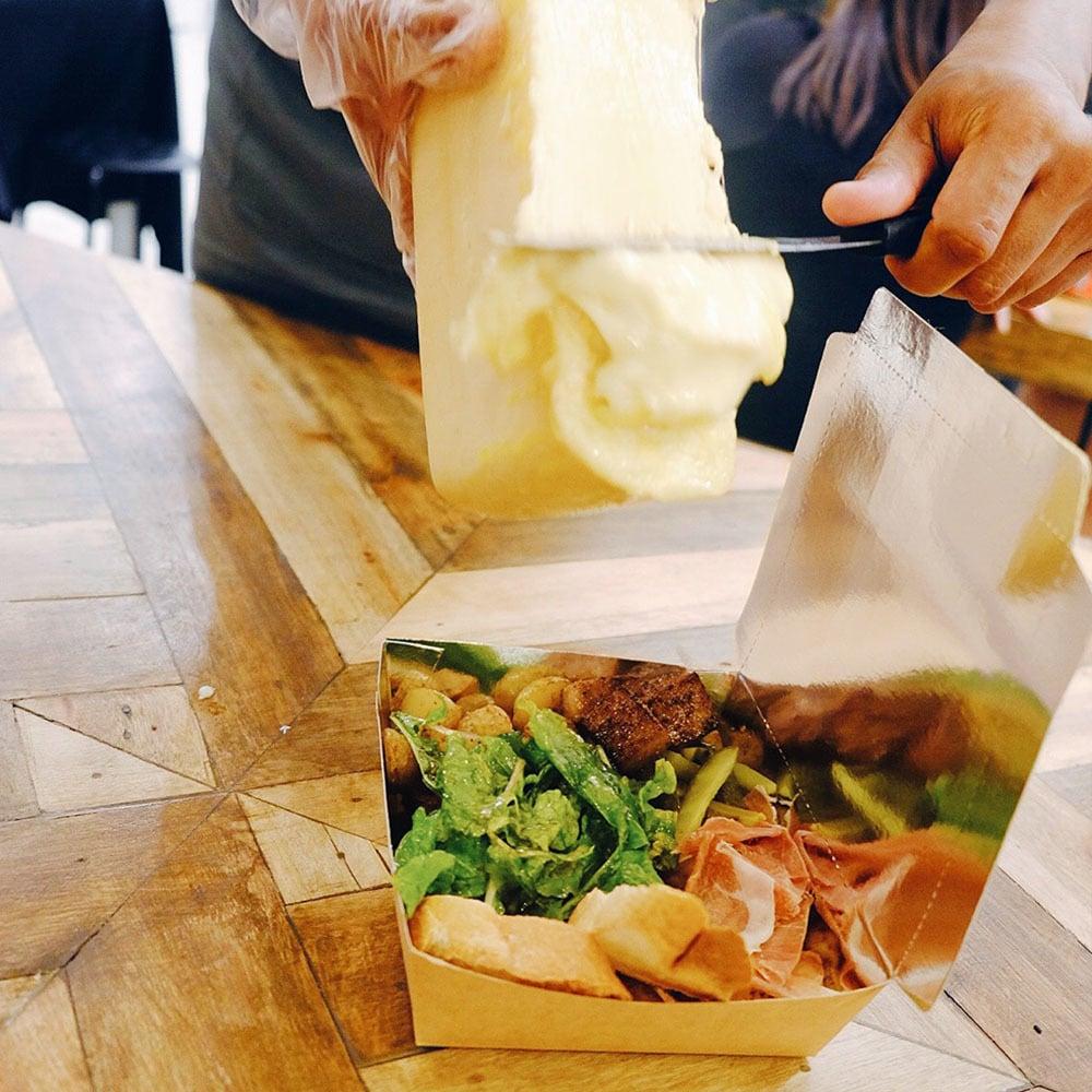 Raclettessen zum mitnehmen - fantastischer geschmack