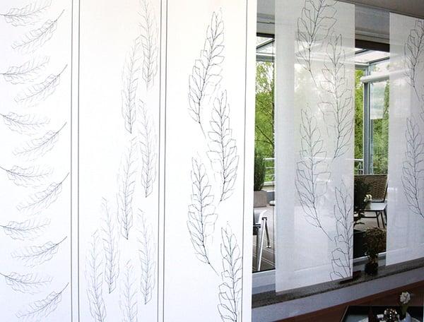 Textildesign - Rollos in Einrichtung