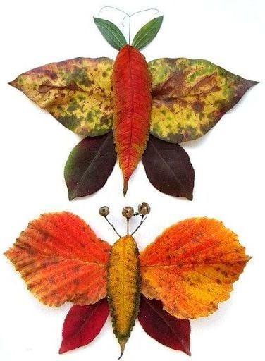 Schmetterlinge aus Blätter - einfach wunderschön!