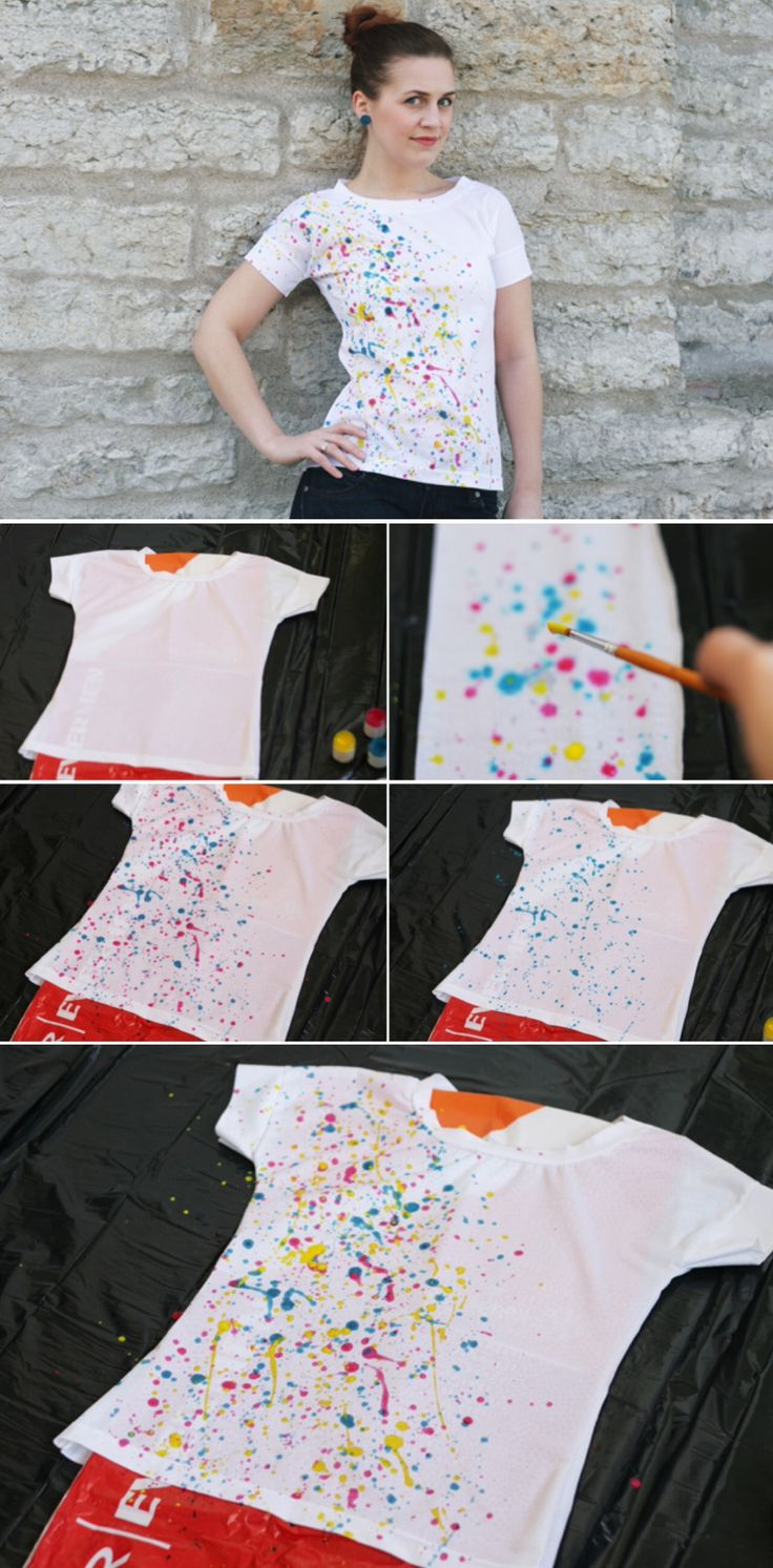 Diy T Shirt Acrylic Paint