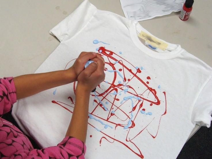 Tshirt selber gestalten mit Fabrikfarbe