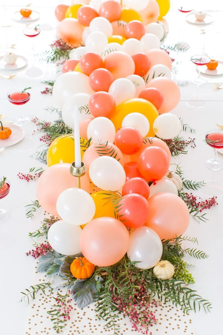 Herbst Tischdeko mit Ballons