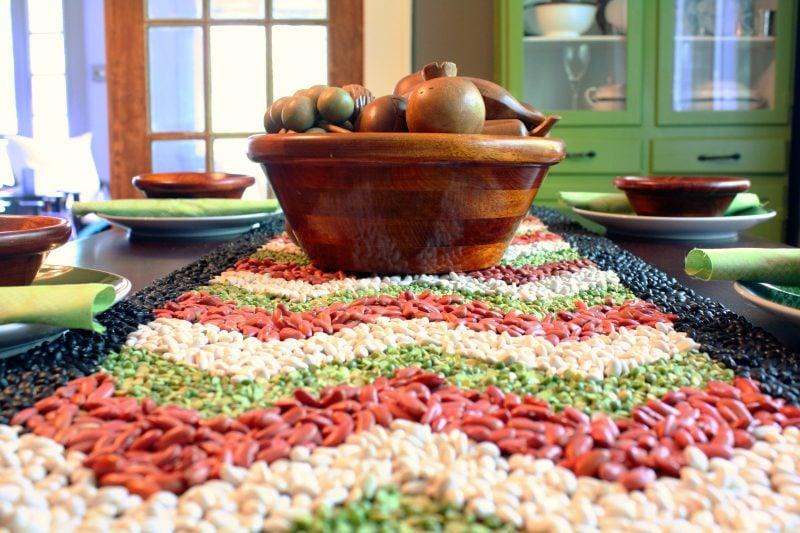 kreative Idee für Tischdeko mit Bohne