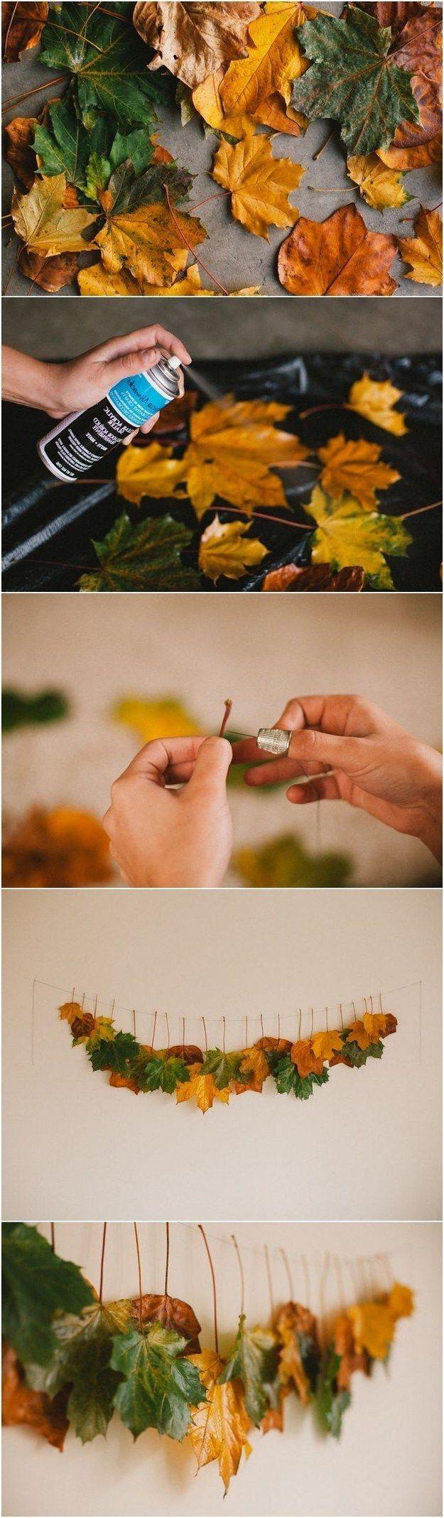 Deko Tisch Herbstblätter