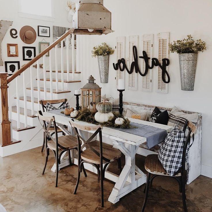 Herbst Tischdeko im skandinavischen Stil
