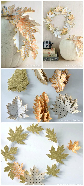 Herbstdeko modern - weiß und gold