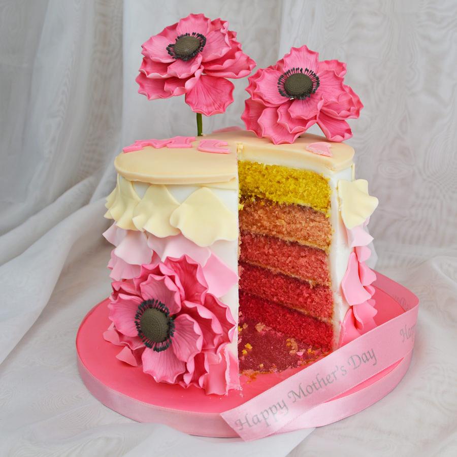Ombre Torte zum Muttertag