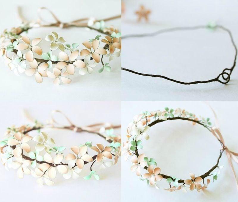 Schmuck selber machen Armband mit Blumen