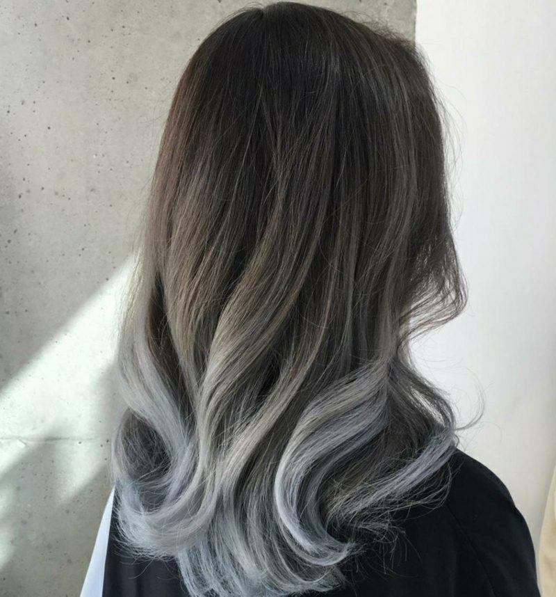 Painting Haare schöne Haarfarben Grau