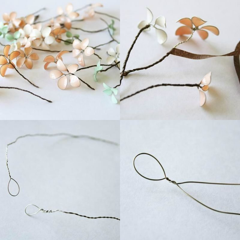 Schmuck basteln Armband mit Blumen