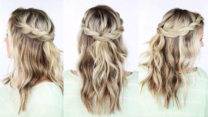 geflochtene Haare Wasserfall Frisur