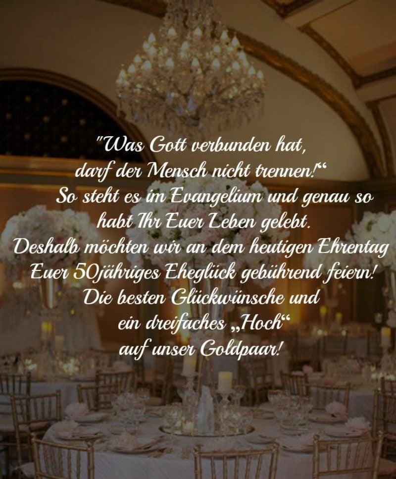Hochzeitstag Sprüche goldene Hochzeit