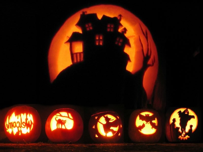 Halloween Kürbis kreative Bastelideen DIY