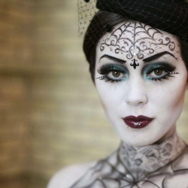 Schminken Hexe eindrucksvolle Ideen Halloween