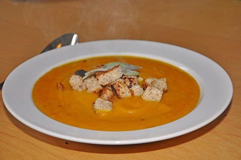 vegetarische Gerichte Kürbissuppe