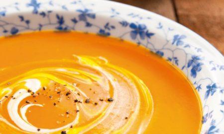 Rezepte mit Herz Kürbissuppe mit Sahne