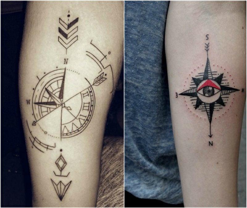 Kompass Tattoo Vorlage 2 Ideen
