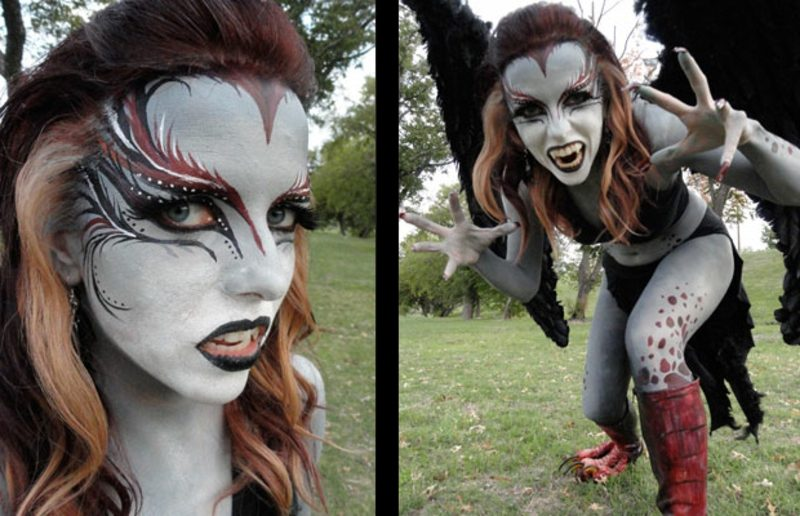 Kostüme Halloween Damen harpyie