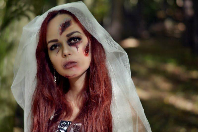 Halloween Kostüm gruselige Braut