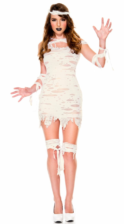 Kostüme Halloween originelle Ideen Mumie