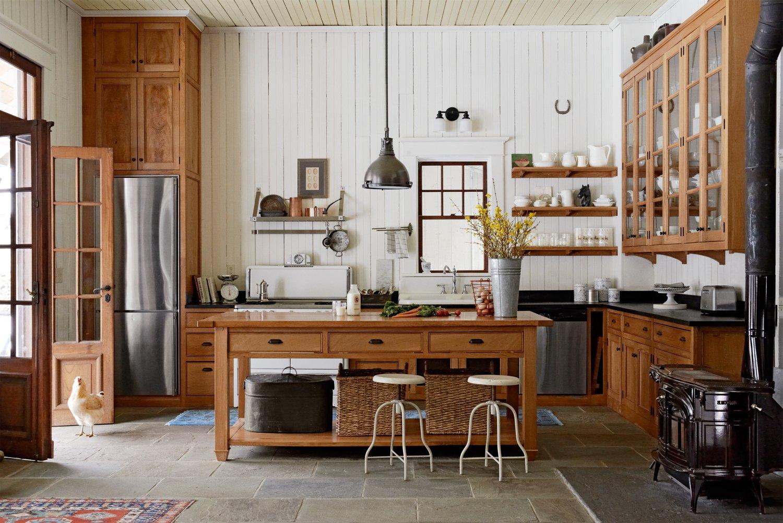 Moderne Landhausküche aus Holz