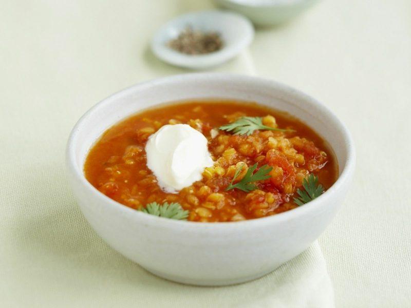 vegetarische Suppe Linsensuppe