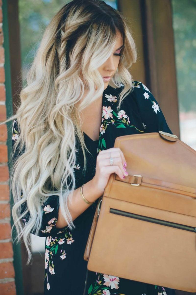 Balayage Technik lange Haare Blond