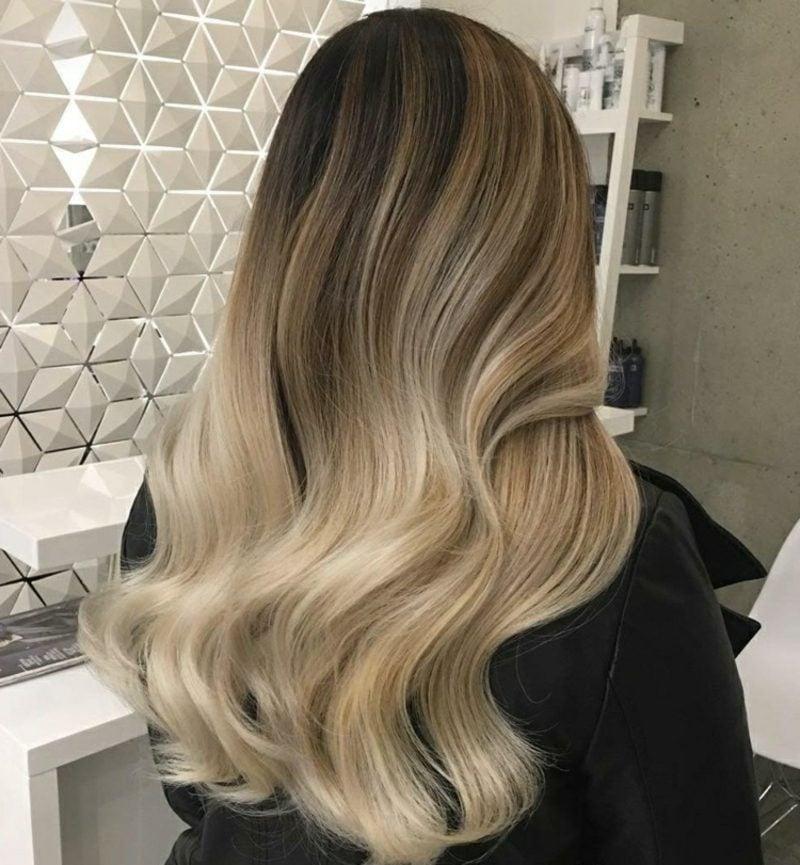 Ombre Blond Nuance Cremeblond herrlicher Look