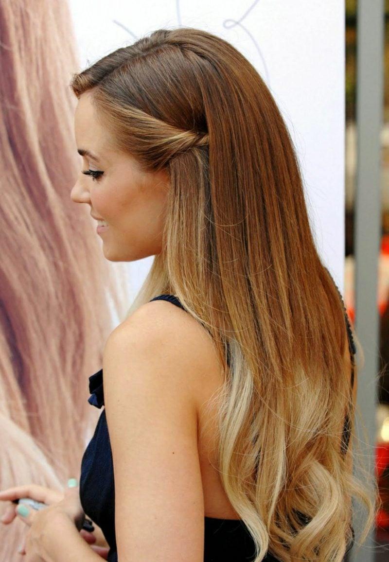 blonde Strähnen Ombre Look Karamellblond