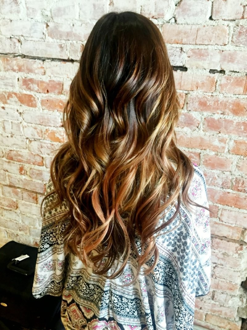 Sombre Haare färben moderner Look