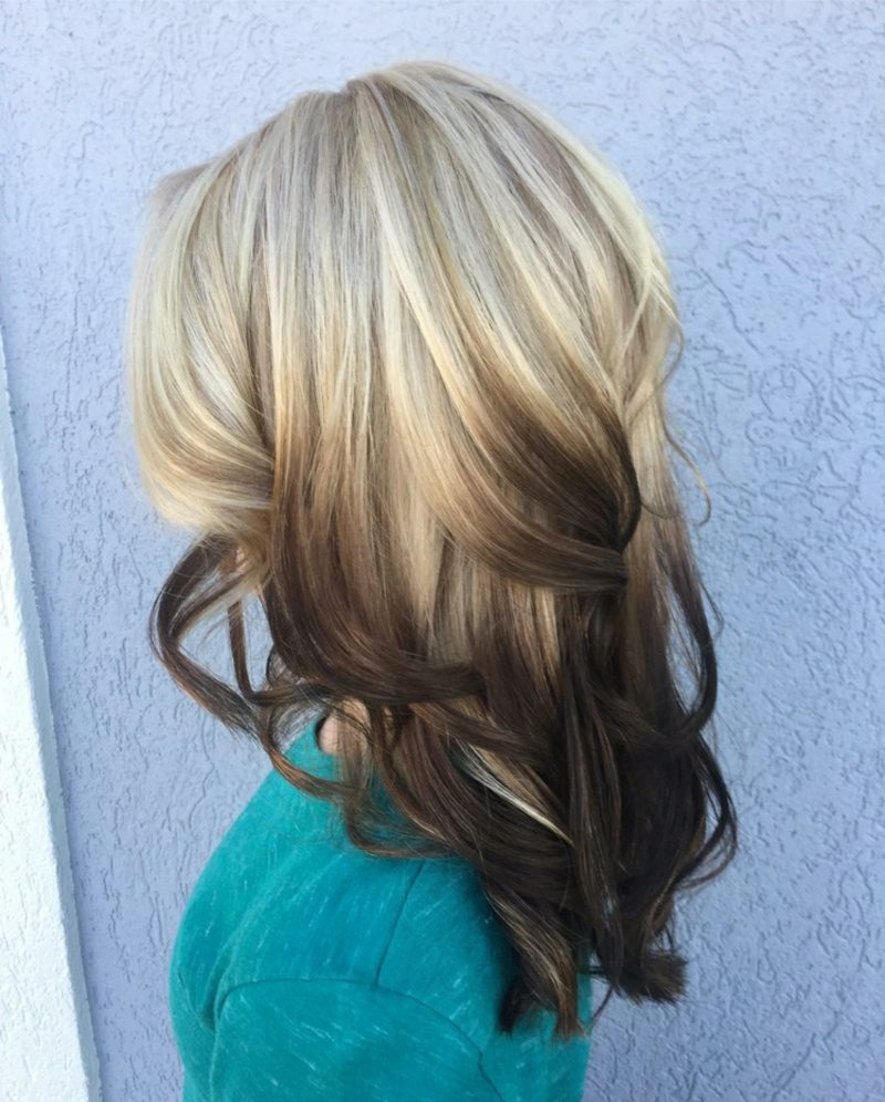 Painting Haare Reverse Ombre