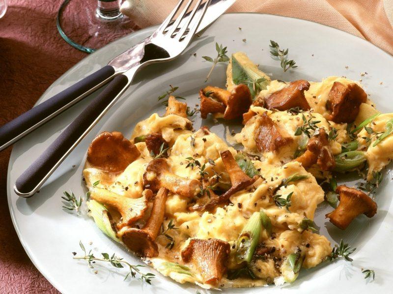 Eiweiß Diät Rezepte Rührei mit Pilzen