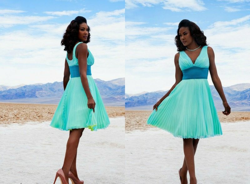 Kleid türkis Rockabilly Stil