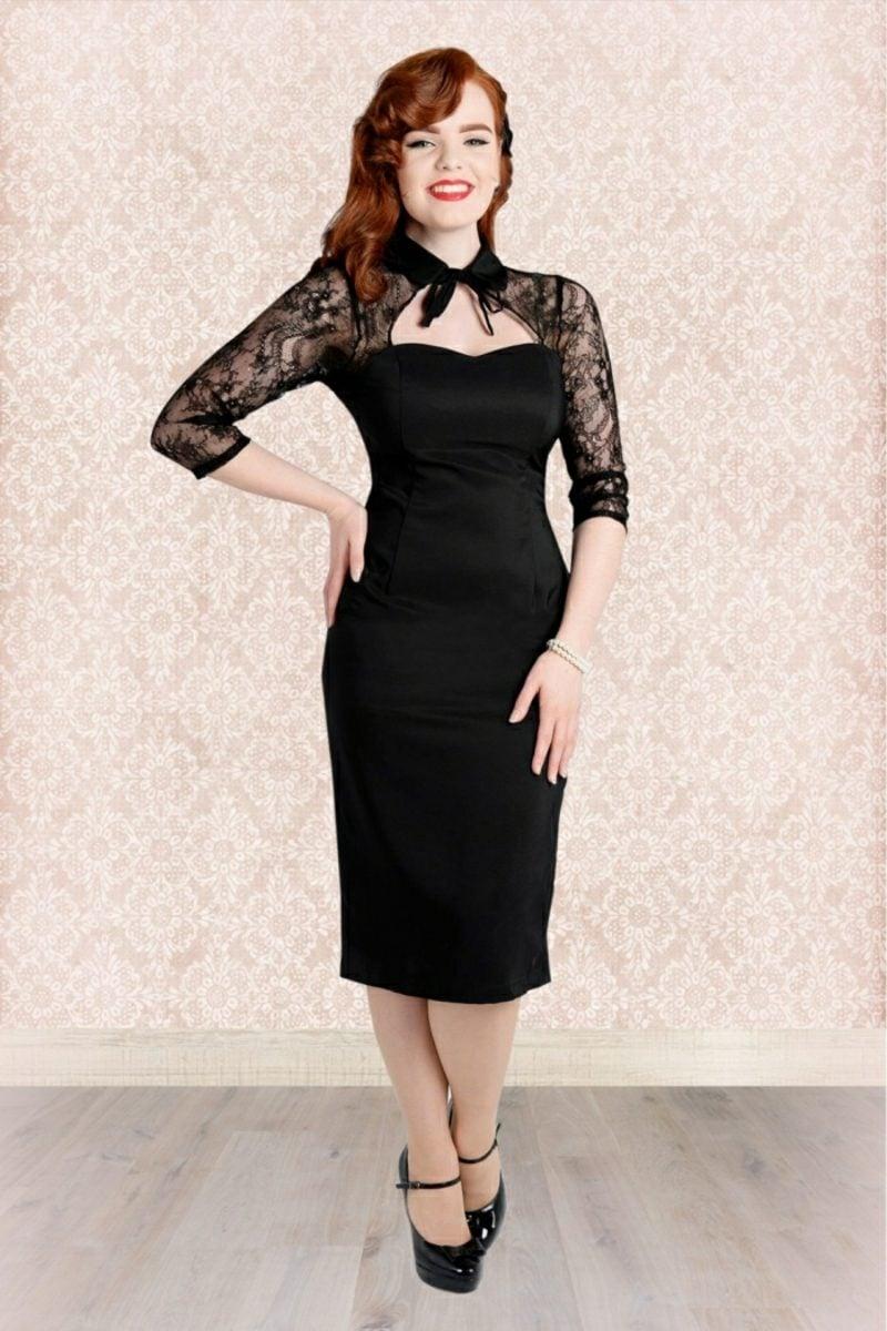 Rockabilly Stil schwarzes Kleid klassisch