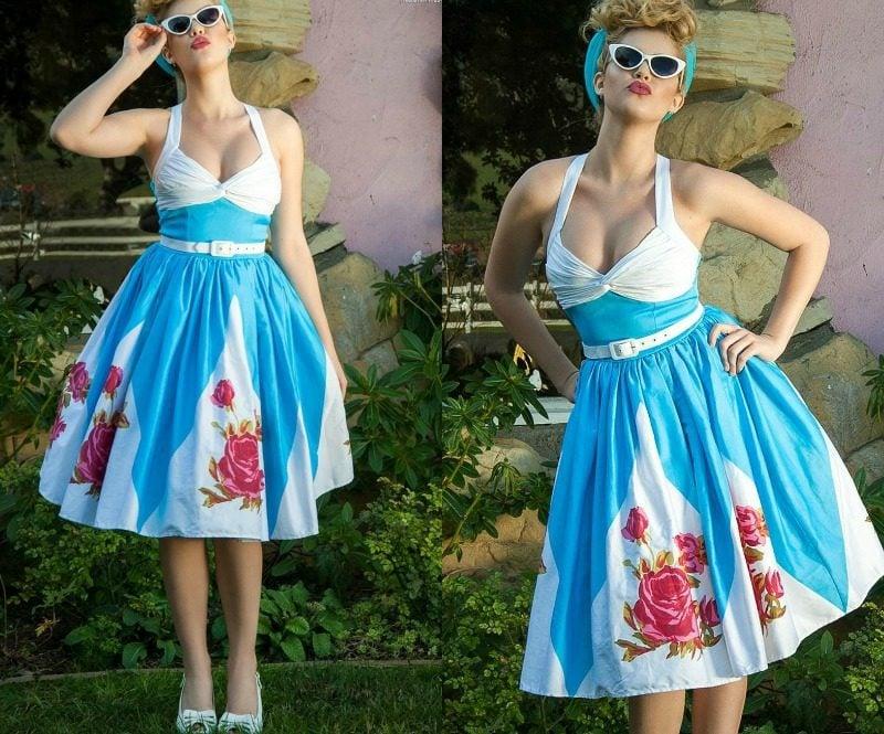 Kleid türkis Rock Rockabilly Stil