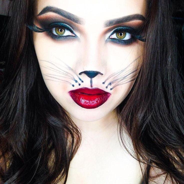 Schminktipps Katzen Make-up Halloween