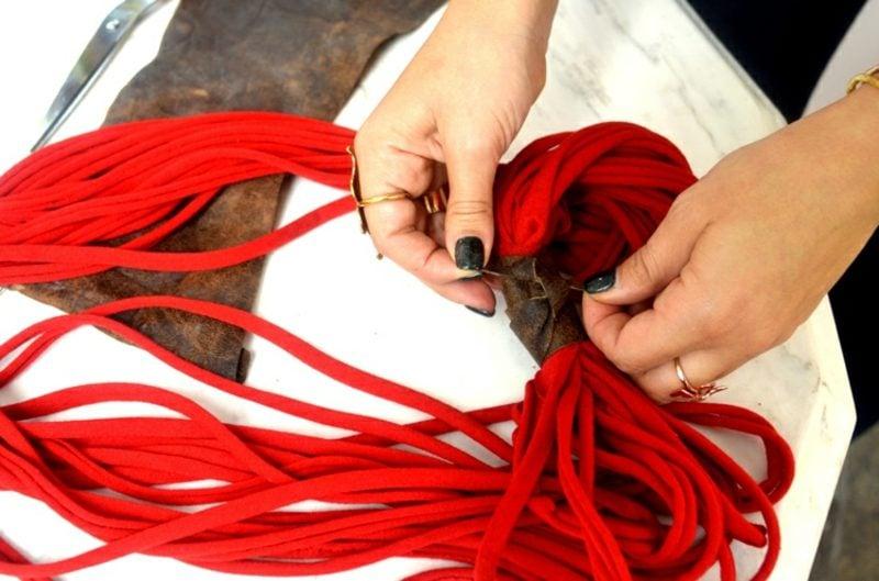 Upcycling Kleidung DIY Schal
