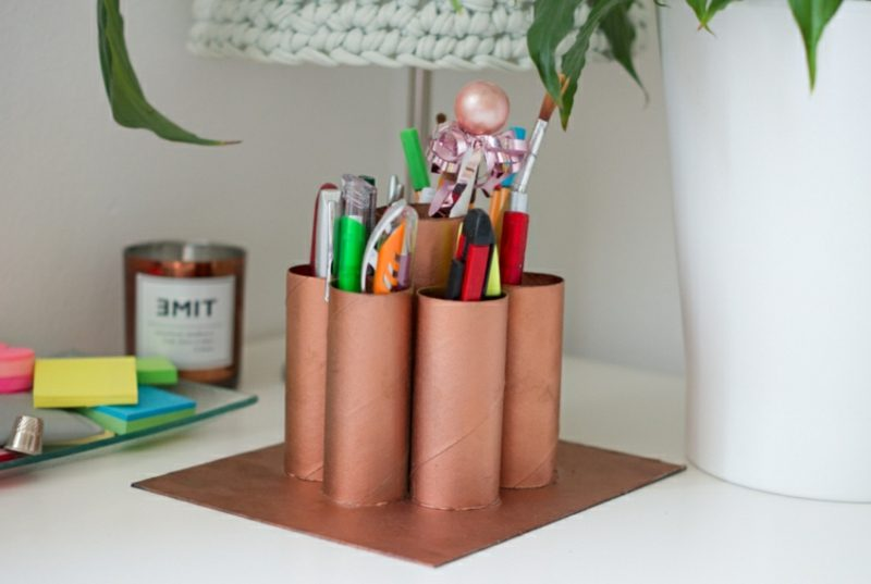 kreative Ideen Upcycling Stifthalter
