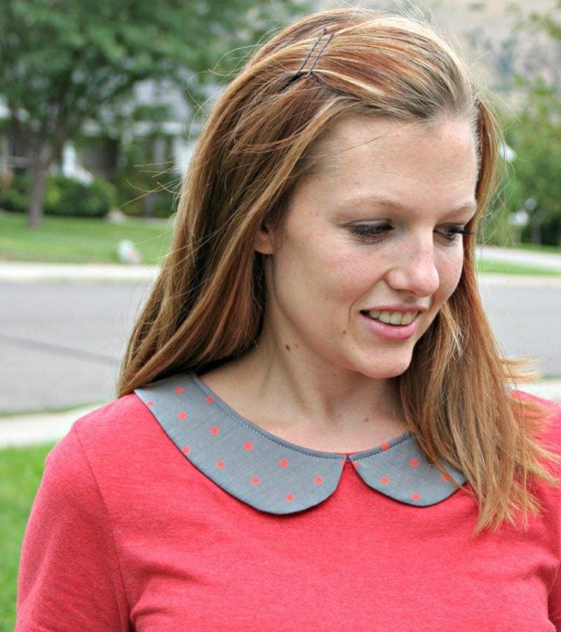 aus alt neu machen Kleidung Bluse mit Bubikragen
