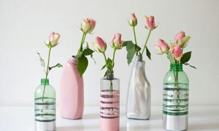Upcycling Ideen DIY bunte Vasen
