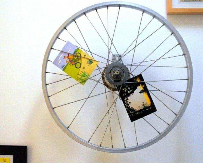 Wanddeko selber machen Fahrradteile