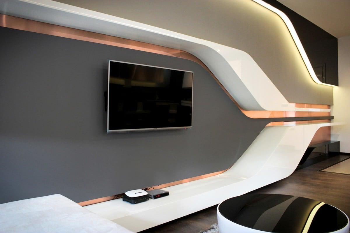 wandgestaltung wohnzimmer 20 attraktive ideen f r. Black Bedroom Furniture Sets. Home Design Ideas