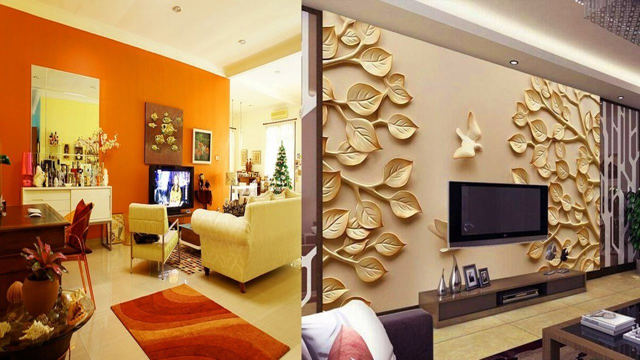 Wandgestaltung Wohnzimmer - 20 attraktive Ideen für stilvolles ...