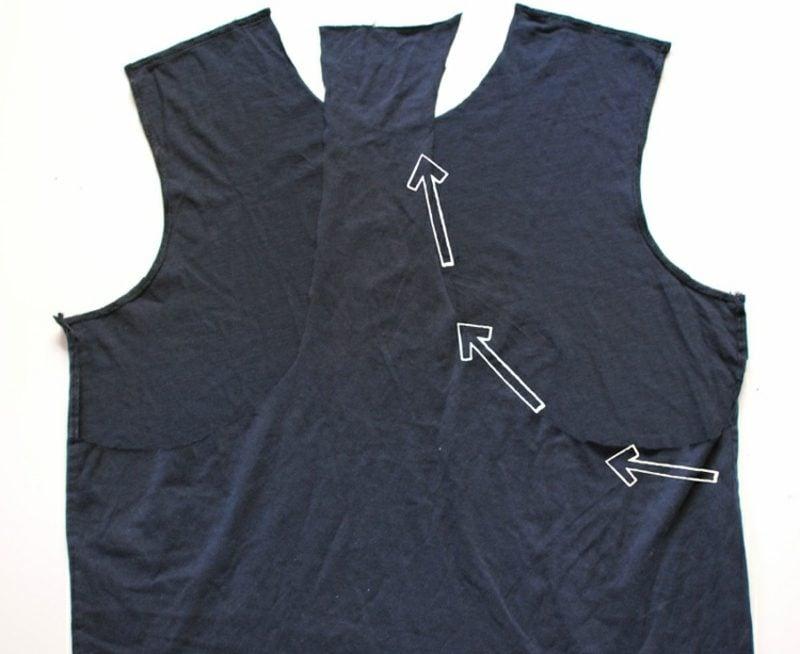 Upcycling Kleidung Yoga Top