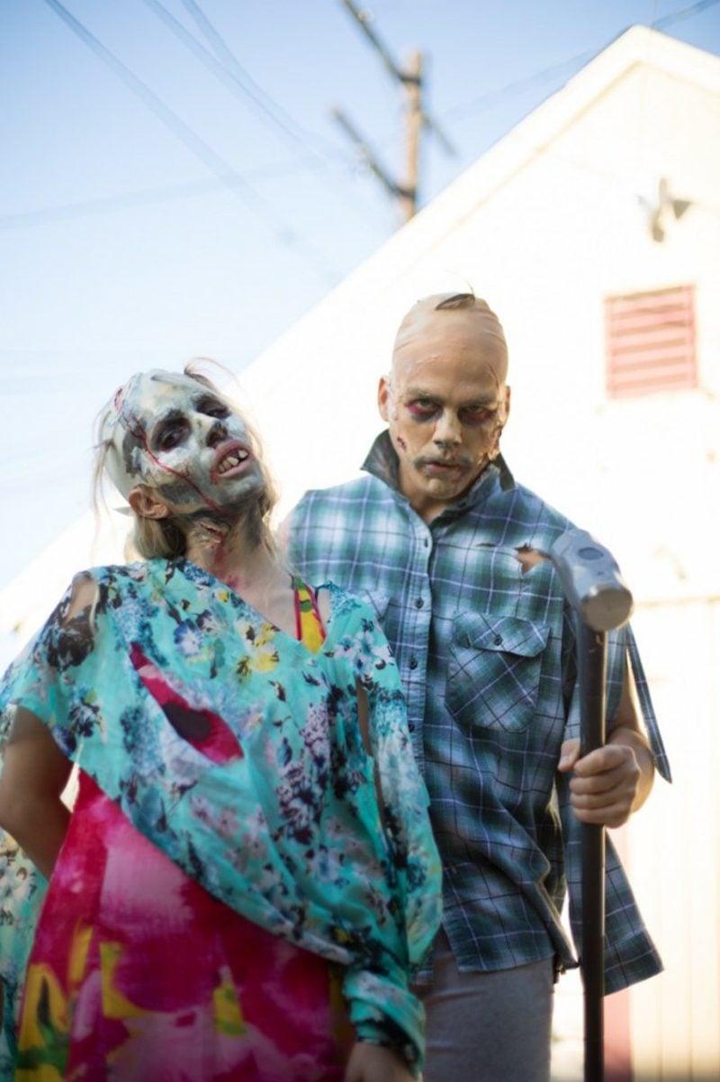 Kostüme Damen Halloween gruselig Zombie