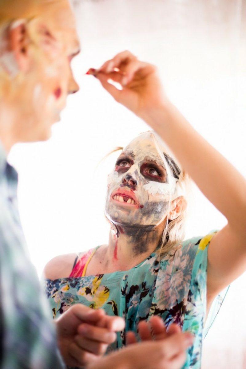 Kostüme Halloween Zombie Ideen zum Selbermachen