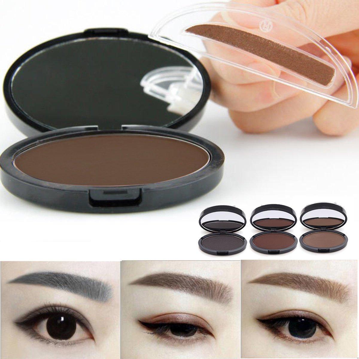 Färben mit Augenbrauen-Schablonen