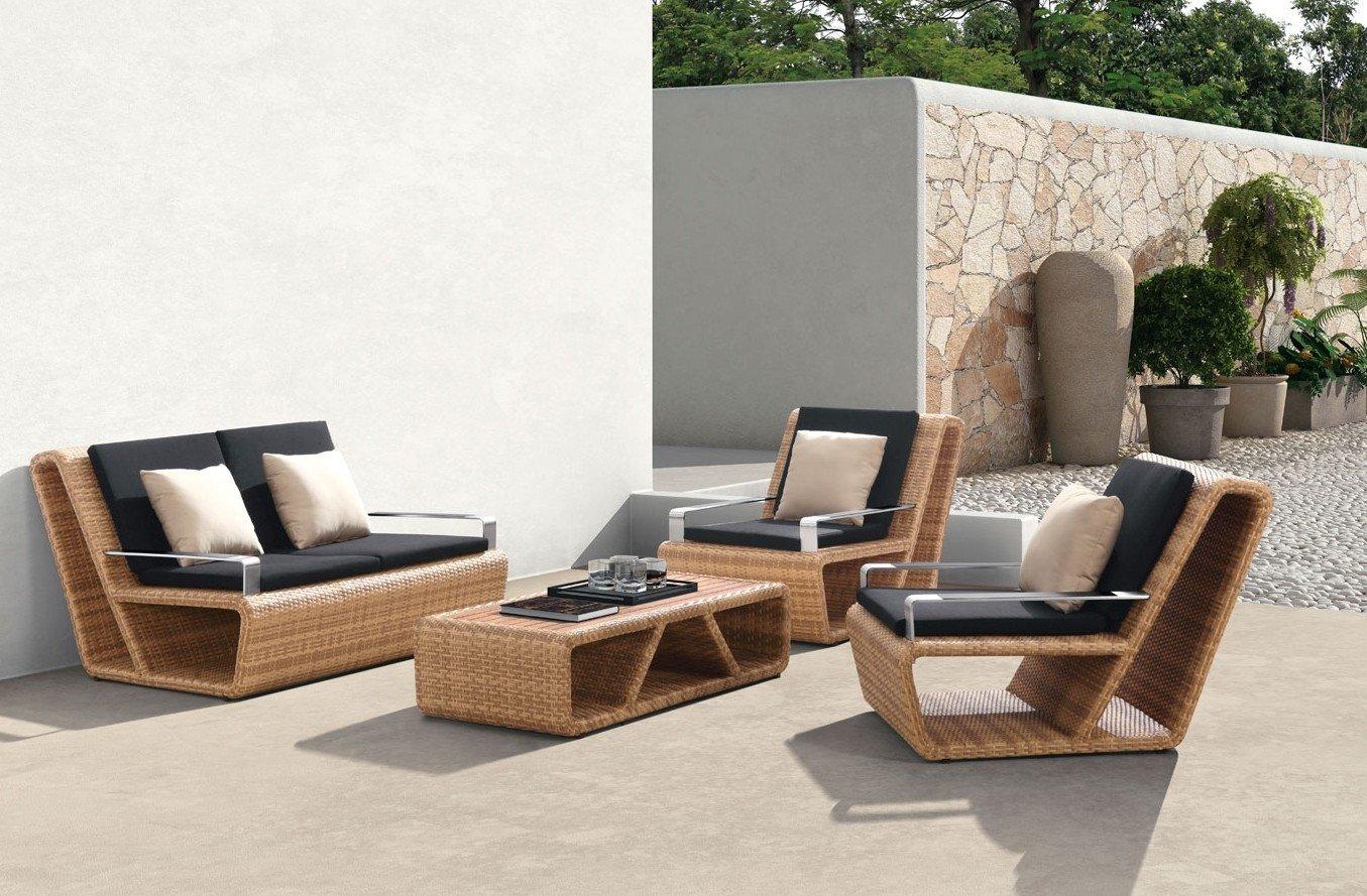 Schicke Polyrattan Garten Lounge Möbel