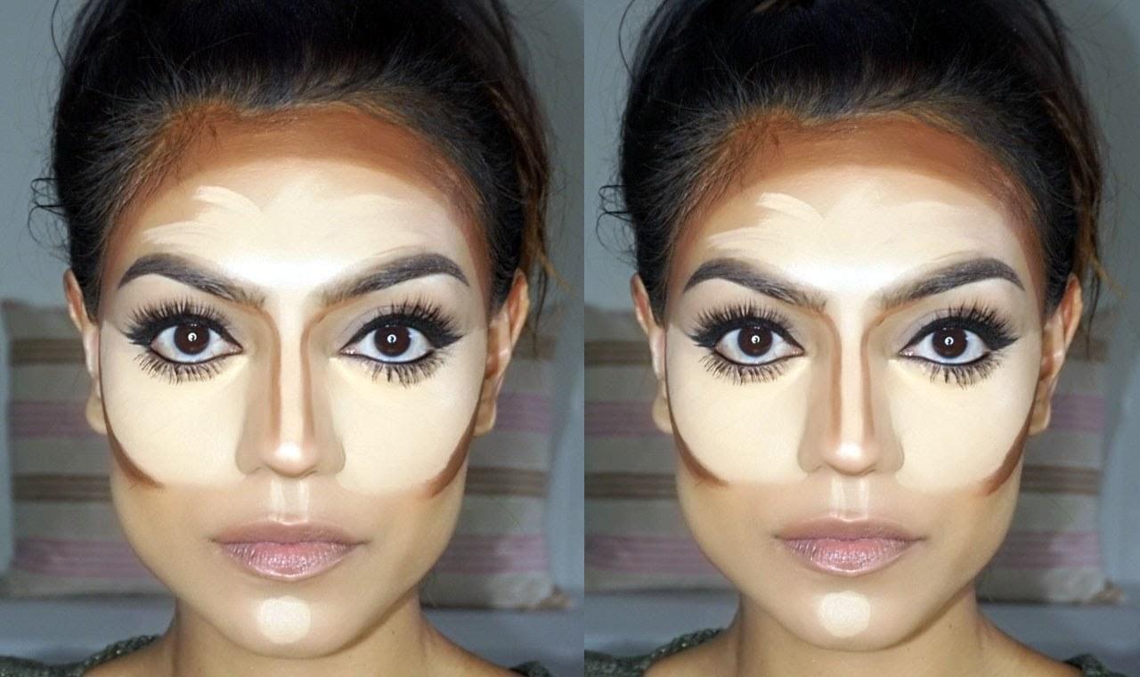 Contouring für eckige Gesichtsform